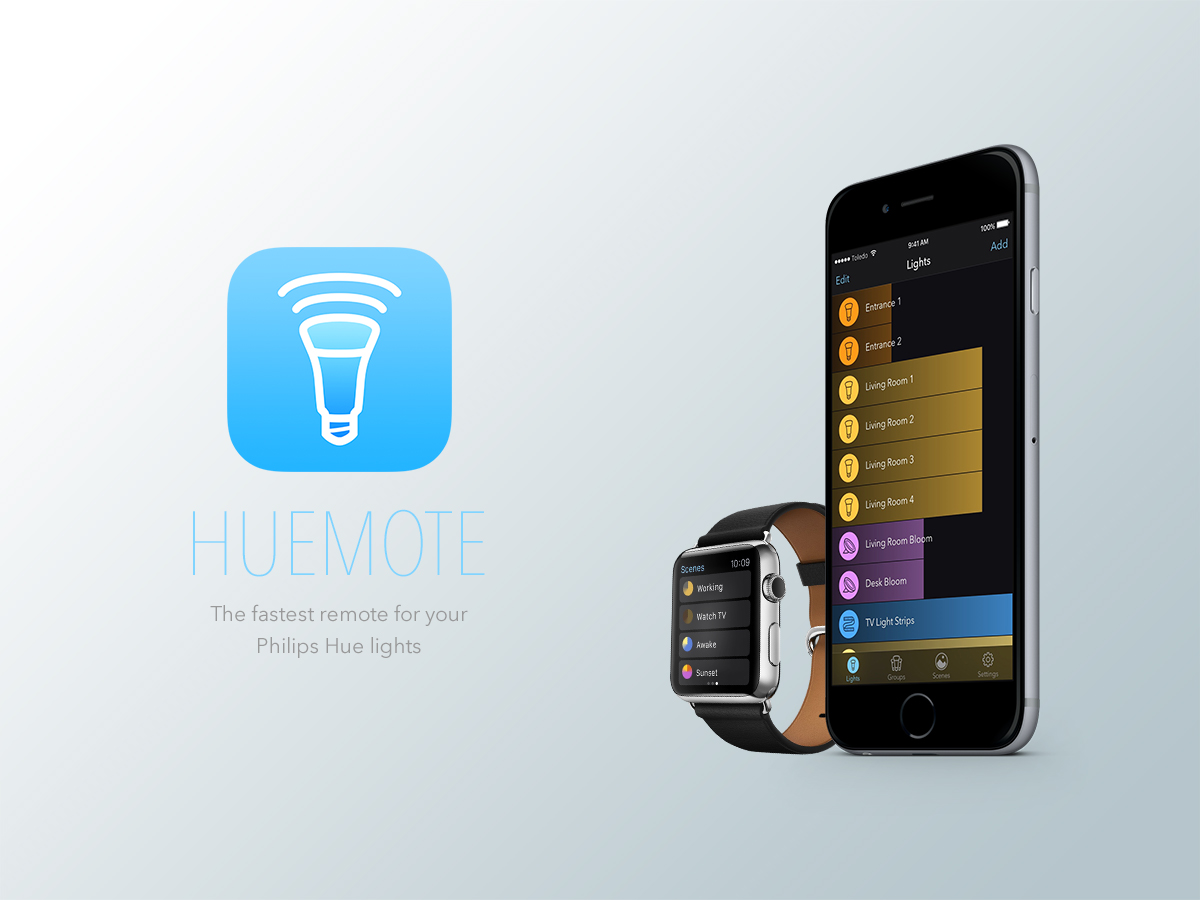 Huemote - The Fastest Remote for your Philips Hue Lights